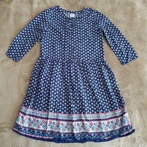 Carter's Floral Longsleeve Dress Girls Size 8